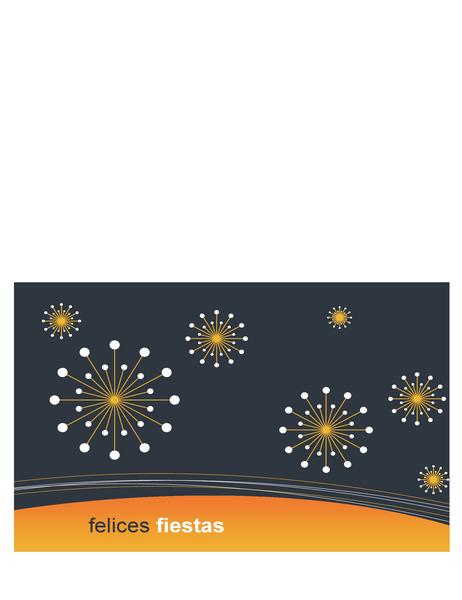 Tarjeta de felicitación de empresa tecnológica (se dobla en dos partes)