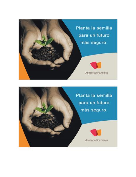 Postal para empresa financiera (2 por página)