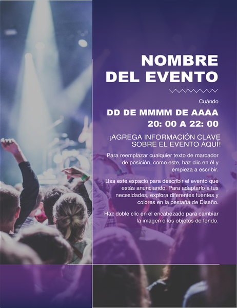 Folleto de evento de cultural