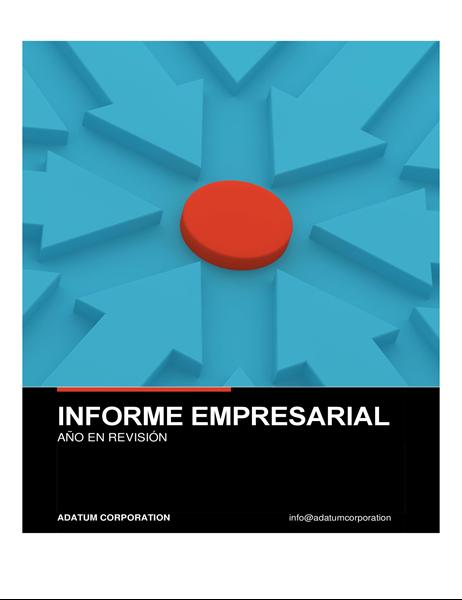 Informe empresarial en negrita
