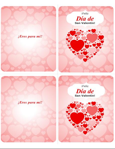 ¡Eres para mí! Tarjeta del Día de San Valentín