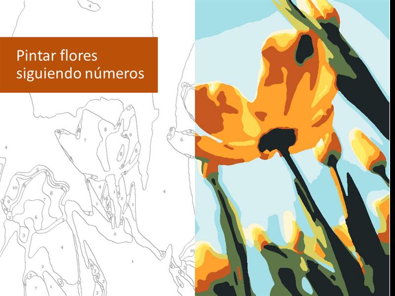 Pintar flores según los números