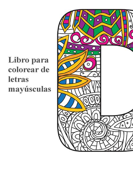 Libro para colorear de letras mayúsculas