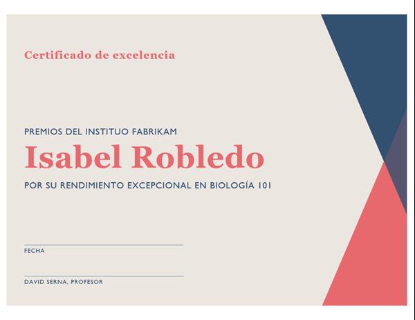 Certificado de título secundario