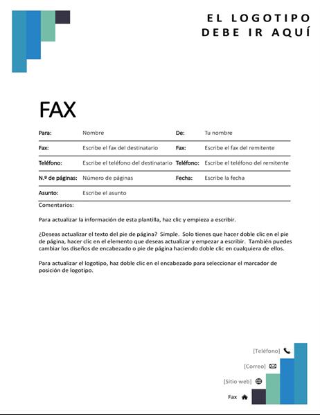 Portada de fax con pasos azules