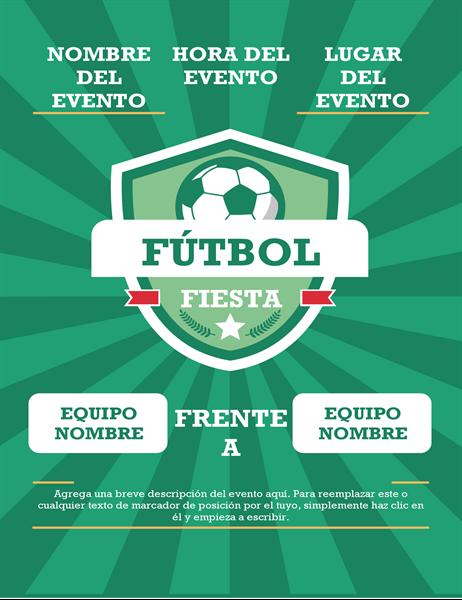 Folleto para fiesta de fútbol (internacional)