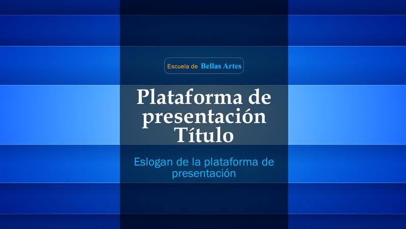 Plataforma de presentación abstracta y colorida