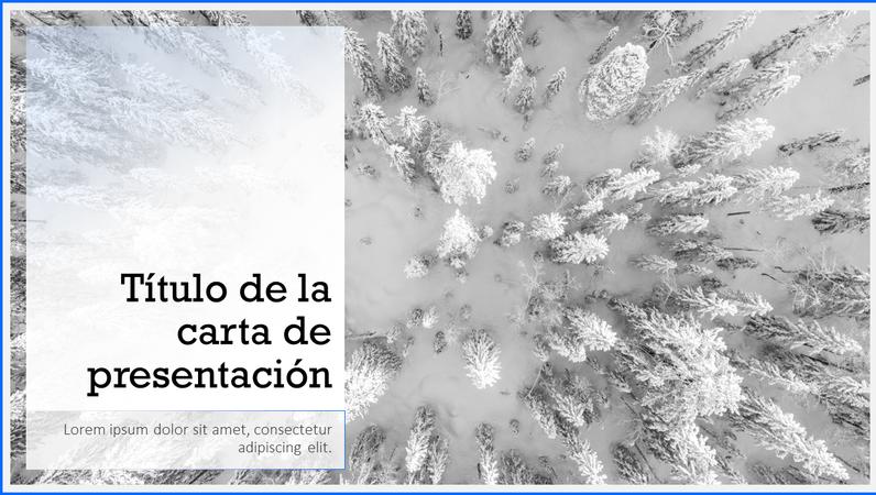 Presentación de paisaje nevado