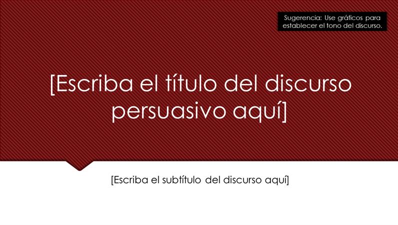 Esquema de discurso persuasivo