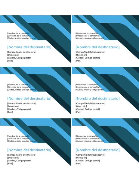 Etiquetas de curvas y ángulos (seis por página)
