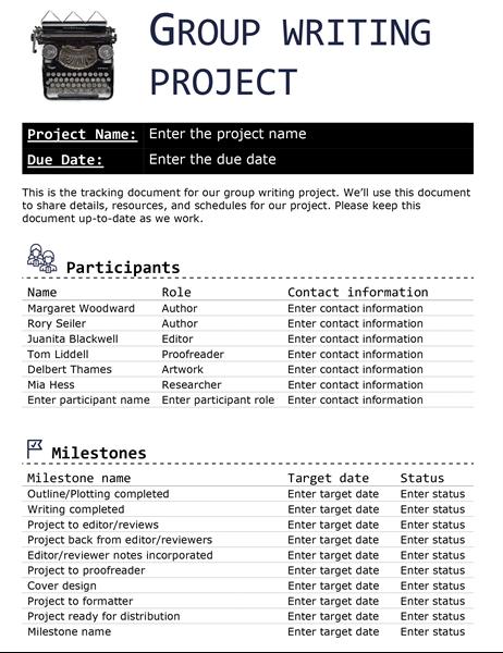 Proyecto de escritura en grupo