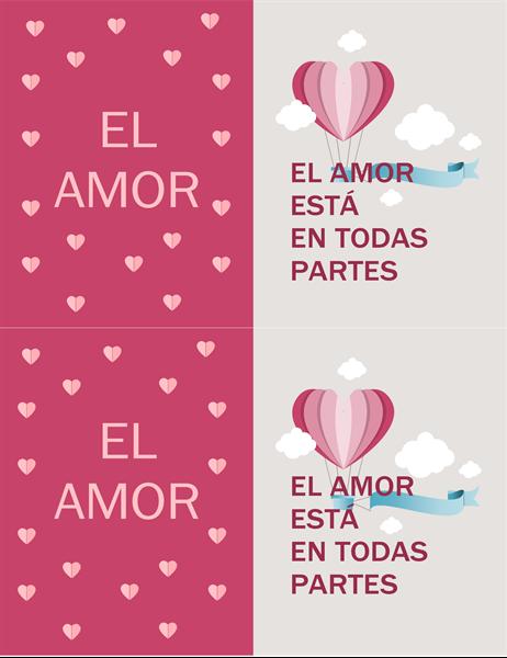 Tarjeta de San Valentín llena de amor