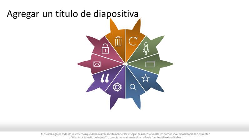 Gráfico circular de infografía