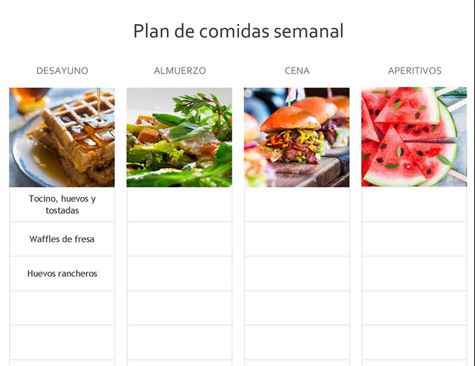 Plan de comidas semanales