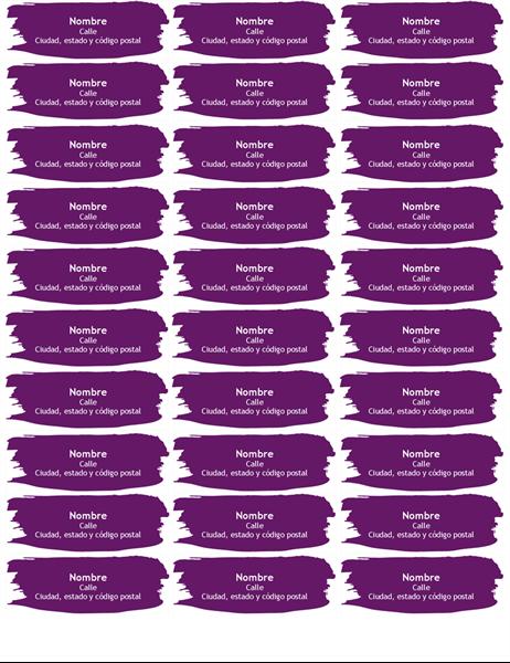 Etiquetas de pincelada (30 por página)