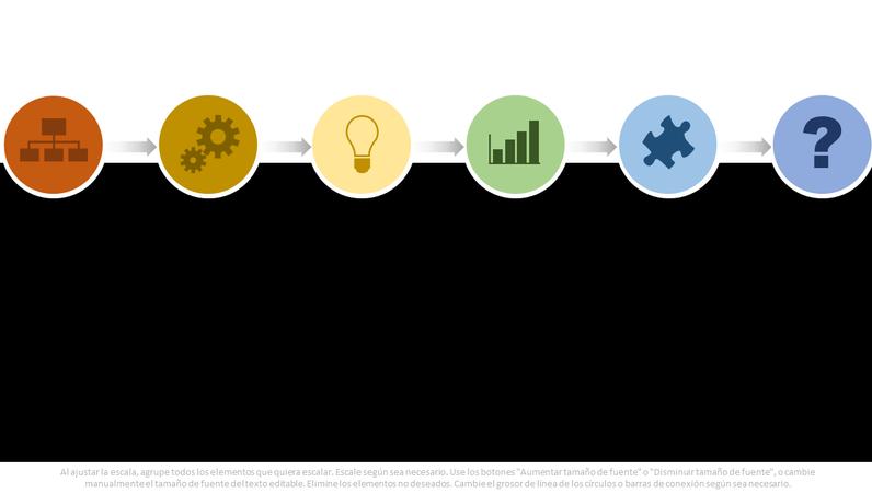 Gráfico de diagrama de flujo de proceso de múltiples colores