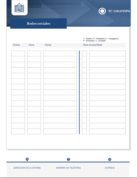 Calendario de contenido para pequeña empresa