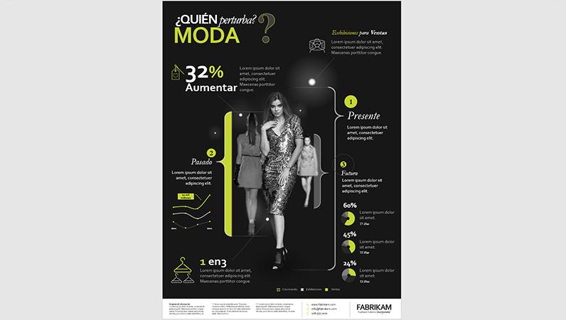 Póster infográfico sobre moda