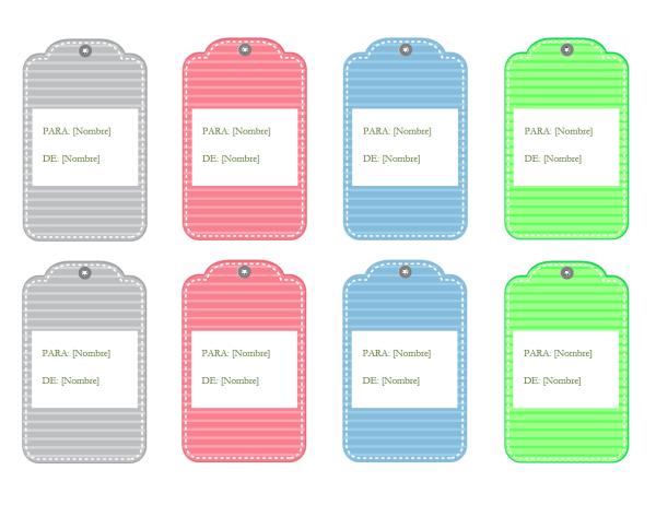 Etiquetas de regalo (diseño en tonos pastel)