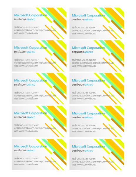 Tarjeta de presentación (diseño moderno)