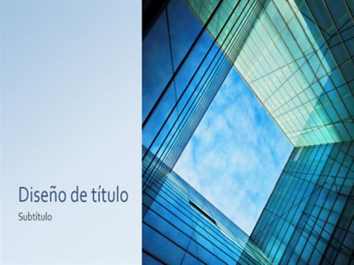 Presentación de negocios y marketing con cubo de cristal (pantalla panorámica)