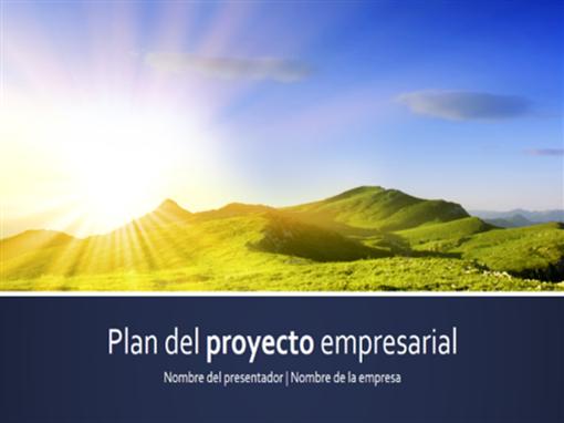 Presentación de plan de proyecto profesional (pantalla panorámica)