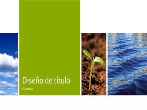 Presentación ecológica (diseño de naturaleza, pantalla panorámica)