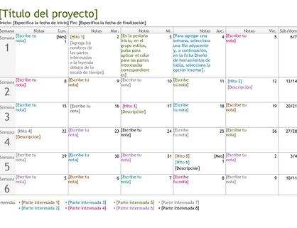 Escala de tiempo de planificación de proyectos
