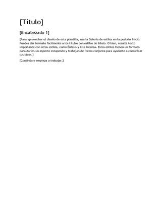 Plantilla de diseño de informe vacía