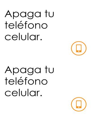 Recordatorio teléfono móvil apagado
