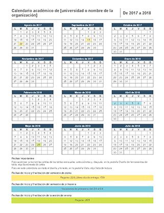 Calendario académico 2017-2018