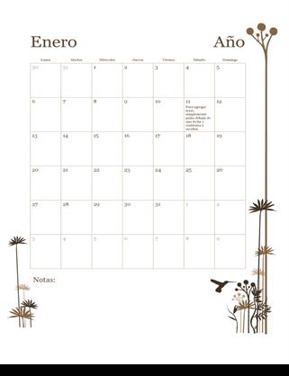 Calendario de 12 meses (lu.-do.)