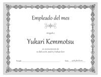 Certificado de empleado del mes (diseño de cadena gris)