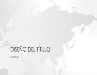 Serie de mapamundis, presentación de Asia (pantalla panorámica)