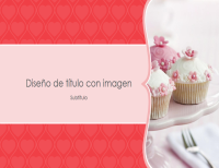 Álbum de fotos con corazones rosas (pantalla panorámica)