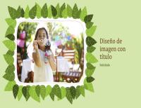 Álbum de fotos familiar (diseño de hojas verdes)