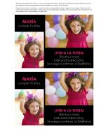 Tarjeta de invitación a fiesta de cumpleaños