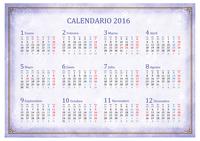 Calendario de 2016 mes a mes (lunes a domingo)