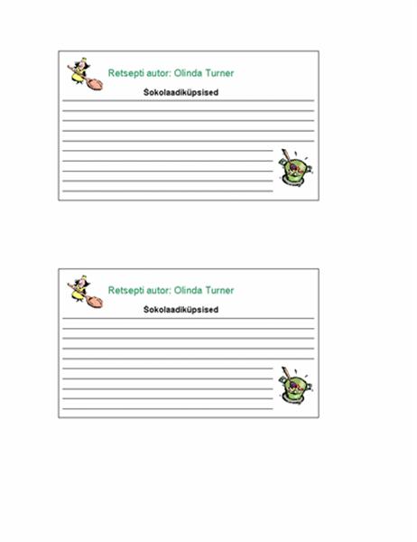 Retseptikaardid (isikupärastatud, 2 tk/lk)