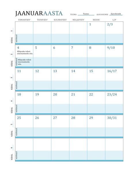 Tunniplaaniga kalender