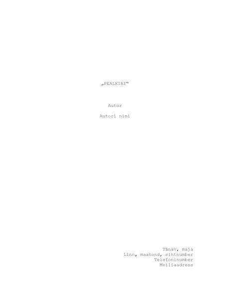 Stsenaarium