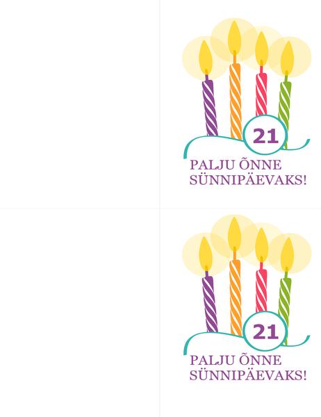 Sünnipäevakaardid (2 tk lehel, Avery 8315 kaartidele)