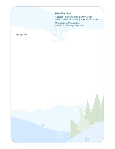 Talveteemaline kirjaplank