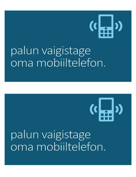 Mobiiltelefoni keelumärk (kaks lehel)