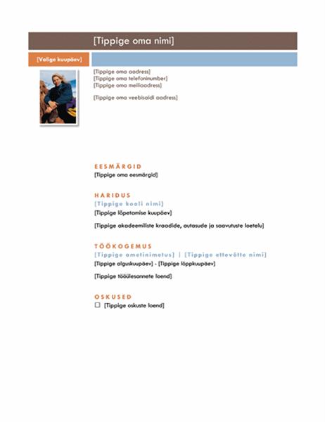 CV (keskpärane kujundus)