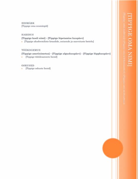 CV (ärkliteemaline kujundus)