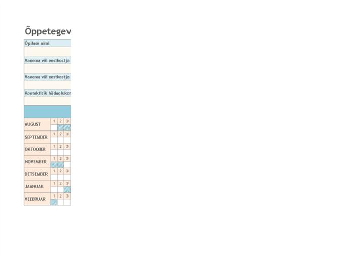 Õppetegevuses osalemise register 2008–2009