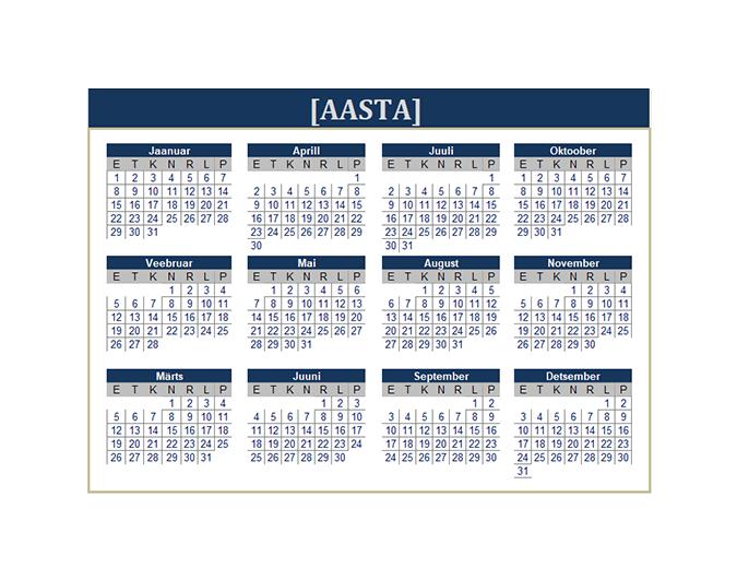 Kalender (kõik aastad)