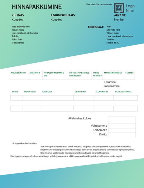 Müügipakkumine (rohelise astmikvärviga kujundus)