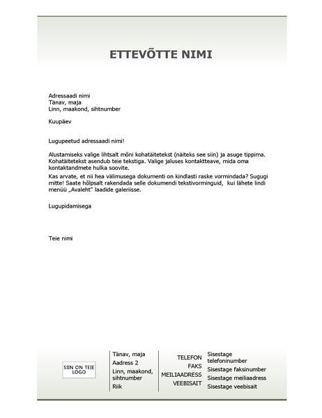 Ettevõtte kirjaplank (lihtkujundus)